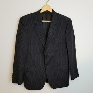 Jones New York Black Pinstripe Blazer Jacket
